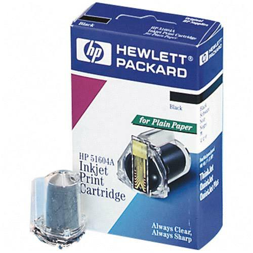 Genuine OEM HP 51604A Black Print Cartridge