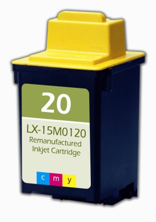 "<img src=""/Images/Recycler.gif"" height=""15"" border=""0"" width=""15""><font color=""#008000""><b>Premium Quality Tri-Color Inkjet Cartridge compatible with the Lexmark (Lexmark #20) 15M0120"