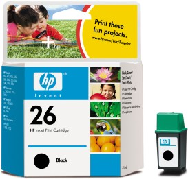 Genuine OEM HP 51626A (HP 26) Black Inkjet Cartridge (795 page yield)