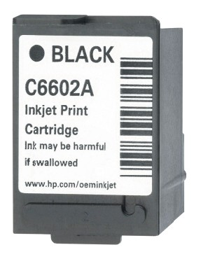 Genuine OEM HP C6602A Black Ink Cartridge (7M page yield)