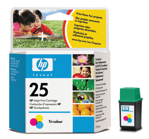 Genuine OEM HP 51625A (HP 25) Tri-Color Inkjet Cartridge (250 page yield)