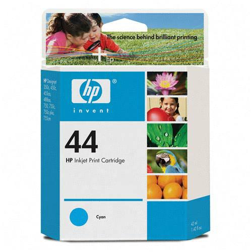 Genuine OEM HP 51644C (HP 44) Cyan Print Cartridge