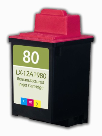 "<img src=""/Images/Recycler.gif"" height=""15"" border=""0"" width=""15""><font color=""#008000""><b>Premium Quality Tri Color Inkjet Cartridge compatible with the Lexmark (Lexmark#80) 12A1980"