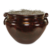 "Tree Container, For Artificial Lifelike Trees, 16"", Mahogany"
