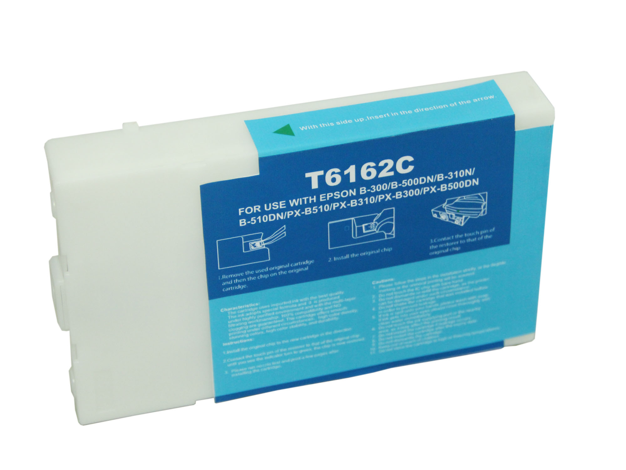 Premium Quality Cyan Inkjet Cartridge compatible with Epson T616200 (Epson 616)