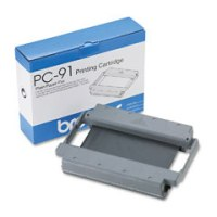 Brother PC-91 Black OEM Thermal Fax Cartridge