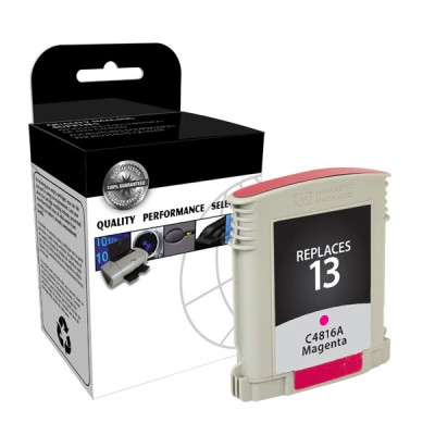 "<img src=""/Images/Recycler.gif"" height=""15"" border=""0"" width=""15""><font color=""#008000""><b>Premium Quality Magenta Print Cartridge compatible with the HP (HP 13) C4816A (1000 page yield)"