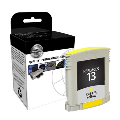 "<img src=""/Images/Recycler.gif"" height=""15"" border=""0"" width=""15""><font color=""#008000""><b>Premium Quality Yellow Print Cartridge compatible with the HP (HP 13) C4817A (1000 page yield)"