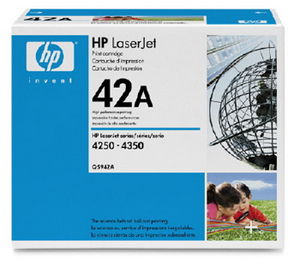 Genuine OEM HP Q5942A (HP 42A) Black Toner Cartridge (10000 page yield)