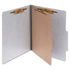 "Classification Folders w/Fstnr,Ltr,2"" Exp,1 Div.,10/BX,GY"