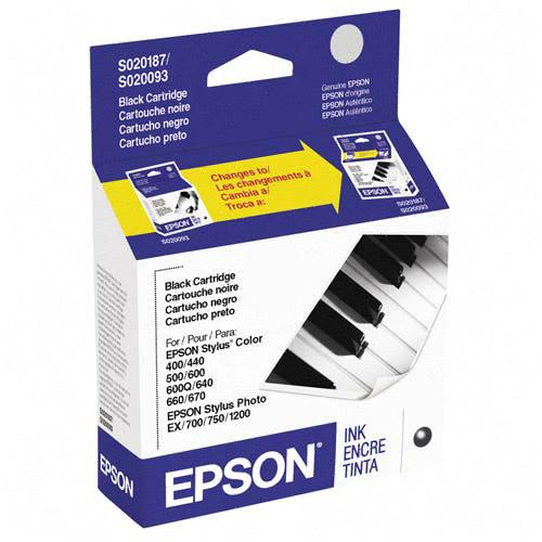 Genuine OEM Epson S187093 Black Inkjet Cartridge