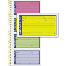 "Phone Message Book,5 1/4""x11"",2-Part Carbonless,White/Canary  (1 EA)"