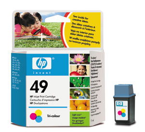 Genuine OEM HP 51649A (HP 49) Tri-Color Inkjet Cartridge (315 page yield)