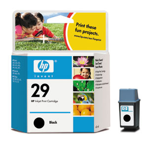 Genuine OEM HP 51629A (HP 29) Black Inkjet Cartridge (650 page yield)