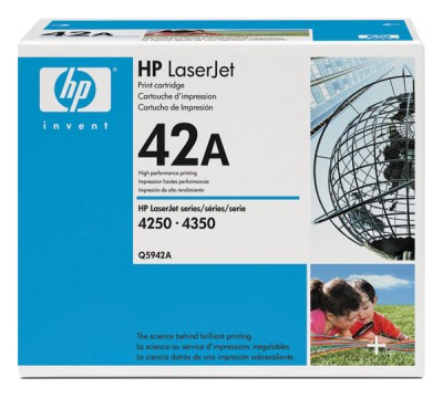 Genuine OEM HP Q5942AG Black Smart Print Cartridge (TAA Compliant version of Q5942A)(45/Pallet) (10000 page yield)