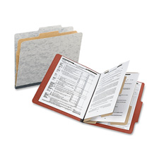 "Classification Folders w/Fstnr,Ltr,2"" Exp,2 Div.,10/BX,GY"