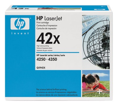 Genuine OEM HP Q5942XG Black Smart Print Cartridge (TAA Compliant version of Q5942X)(45/Pallet) (20000 page yield)