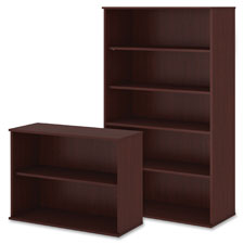 "Bookcase,2-Shelf,Adjustable,35-3/4""Wx15-1/2""Dx30""H,HarvestCY  (1 EA)"