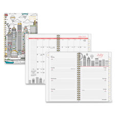 "Paint The Town Wk/Mth Planner, 12Mths, 9-1/2""x11-3/4"", Ast  (1 EA)"